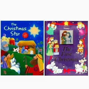 Lot of 2 Christmas Hardcover Books Childrens The C